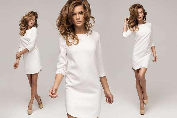 Платья прямого покроя с рукавами 3/4 и длинными, декор строгих фасонов, классические и короткие модели с карманами