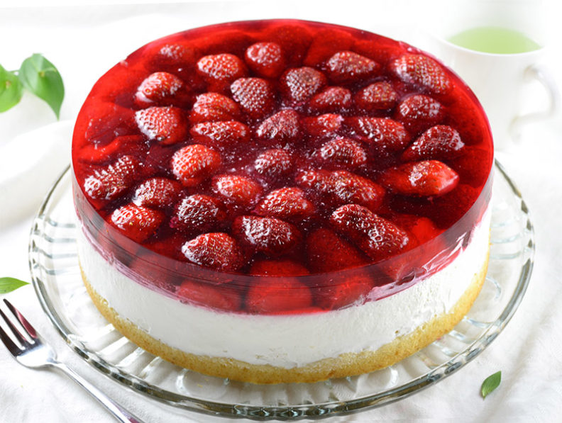 Рецепт клубнично-творожного торта