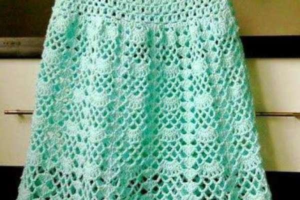 Простое платье крючком для девочки 2 лет: схемы, рекомендации, описание