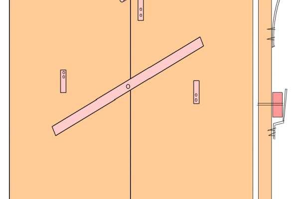 Как сделать засовы на гаражные ворота самому
