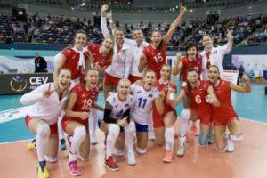 Волейболистки сборной России обыграли команду Болгарии и вышли в 1/4 финала ЧЕ