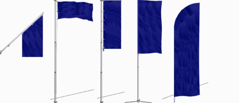 Флагштоки и печать флагов