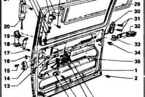 Фольксваген Транспортер Т4 — Боковая сдвижная дверь – снятие, установка и регулировка