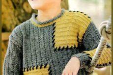 Пуловер с квадратами для мальчика