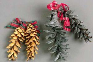 Декор из шишек: идеи, мастер-класс. Поделки из шишек на Новый год