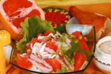 Салат с грейпфрутом — поистине солнечным фруктом