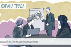 Проведение вводного инструктажа по охране труда