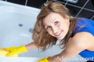 Обзор лучших средств по уходу за акриловой ванной, советы по выбору