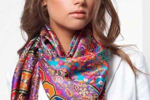 Способы завязывания платков и шарфов