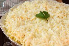 Салат Невеста с копченой курицей и плавленым сыром