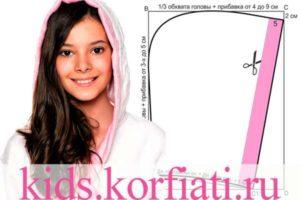 Выкройка детского халата с капюшоном от Анастасии Корфиати