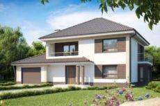 Проект классического 2х этажного дома с удобным гаражом