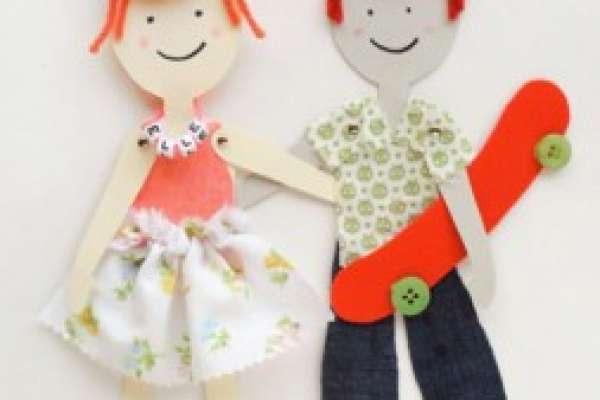 Куклы из бумаги своими руками (схемы, шаблоны)