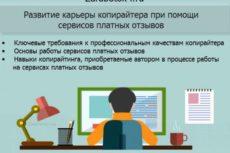 Безопасный заработок в интернете: развитие карьеры профессионального копирайтера при помощи сервисов платных отзывов