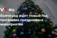 Волгоград ждет Новый год: программа праздничных мероприятий