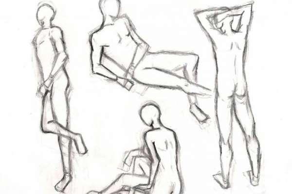 Как нарисовать набросок человека?