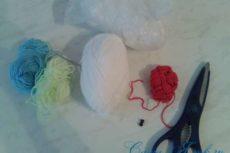 Снеговик крючком: схема и описание