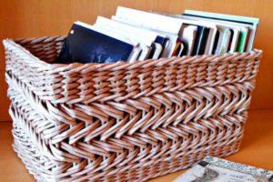 Пошагово плетение из газетных трубочек: новые идеи для начинающих