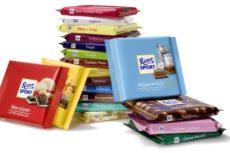 Марки шоколада: Ritter Sport, Milka, Alpen Gold, Lindt, Аленка и другие