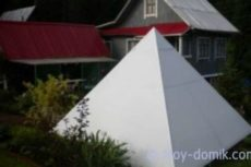Как построить пирамиду на даче