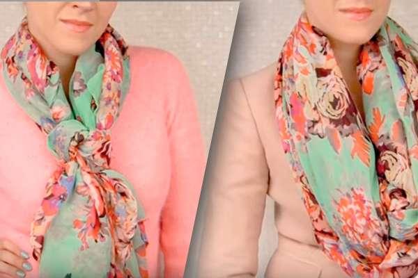 Как завязать обычный шарфик на шее: 30 стильных вариантов