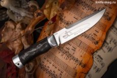 Купить нож Александр (рукоять макасар, тыльник и гарда алюминий)