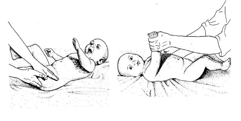Как делать массаж младенцу