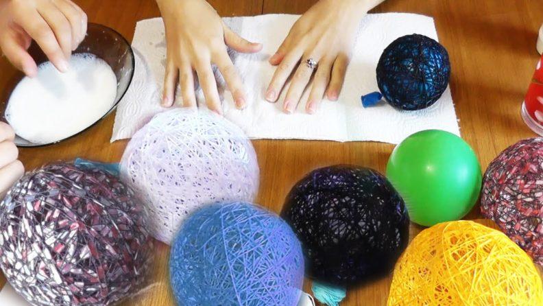 Делаем декоративные шары своими руками