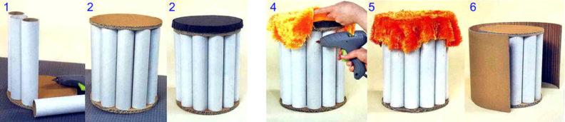 Как сделать пуфик своими руками