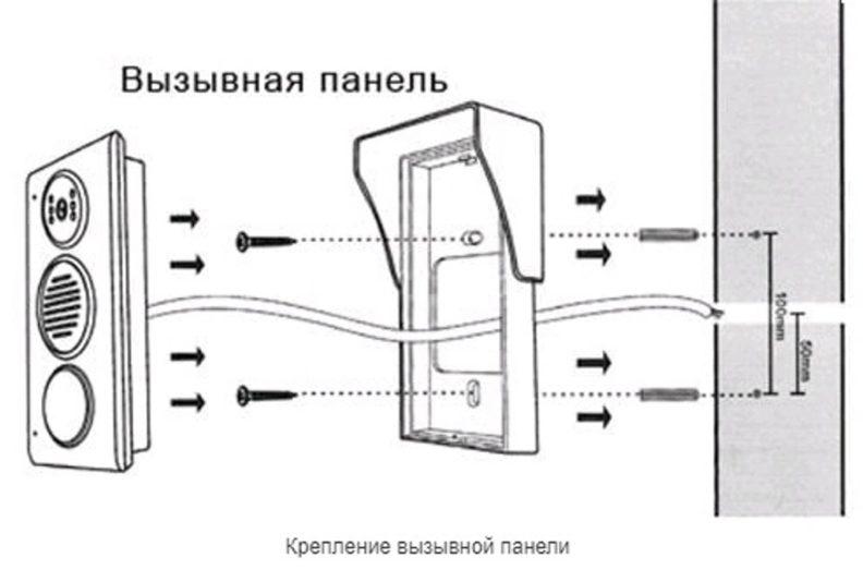 Как провести монтаж видеодомофона